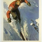 Switzerland Classic Winter Sports Travel Poster Ad