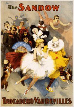 The Sandow Trocadero Vaudevilles Vintage Theater Ad Poster