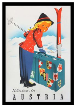 Winter in Austria, Vintage Tourism Poster