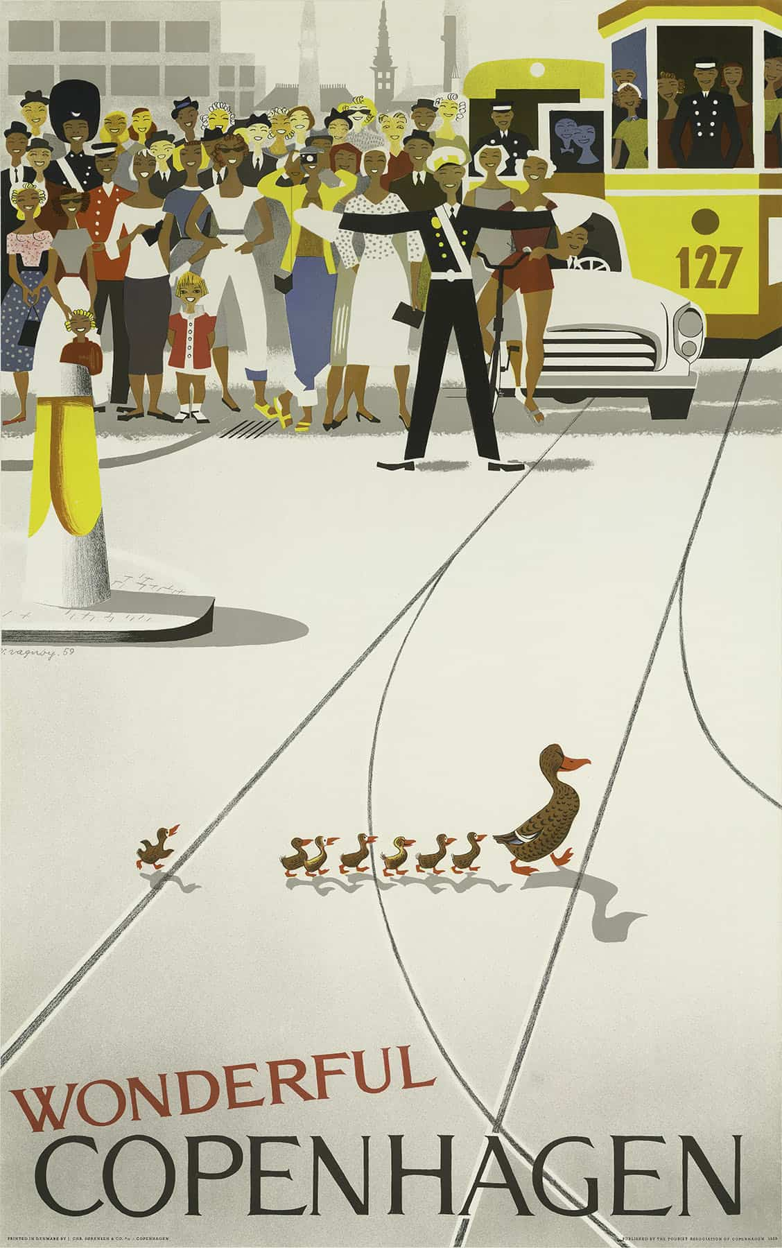1959 Wonderful Copenhagen Tourism Poster
