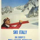 Alitalia Airlines – Ski Italy Winter Tourism Poster