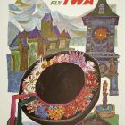 David Klein 1960 Fly TWA Switzerland Poster