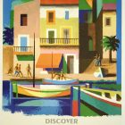 Discover France by Train: The French Riviera Poster