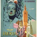 'Iberia Air Lines Of Spain, Enjoy The Charm of Andalusia' Poster