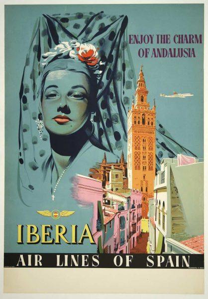 Iberia air Travel Poster