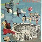Iberia Air Lines of Spain Madrid Travel Poster