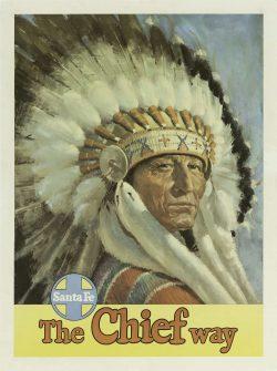 1950s Santa Fe, The Chief Way' Poster