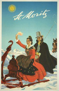 St. Moritz Retro Poster Art