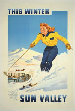 This Winter Sun Valley; 1950s Travel Poster