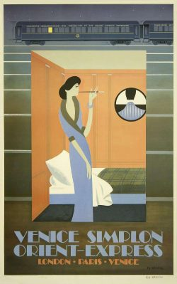 Venice Simplon Orient Express Poster by Fix-Masseau
