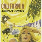 American Airlines – California Vintage Travel Poster, 1965