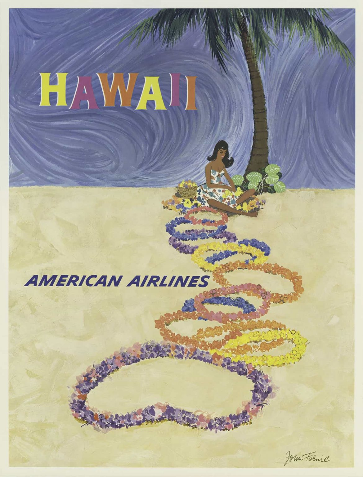 American Airlines Hawaii Poster By John Fernie