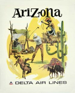 Arizona Delta Airlines Poster