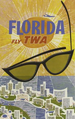 Fly TWA – Florida Poster by David Klein, 1960
