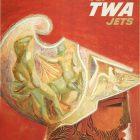 Fly TWA Jets – Greece Poster by David Klein