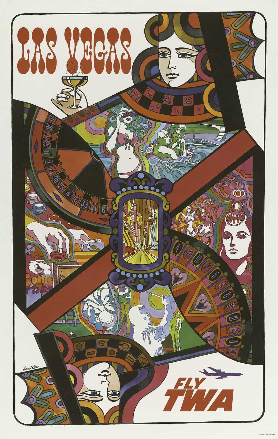 las vegas vintage poster