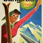 Switzerland – Jungfrau Region Vintage Tourism Poster