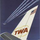 TWA Star Stream Jet Poster