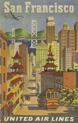 United Air Lines – San Francisco Poster by Joseph Feher