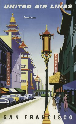 United Air Lines – San Francisco Poster