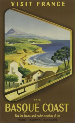 Visit France The Basque Coast Poster by Jean Garcia