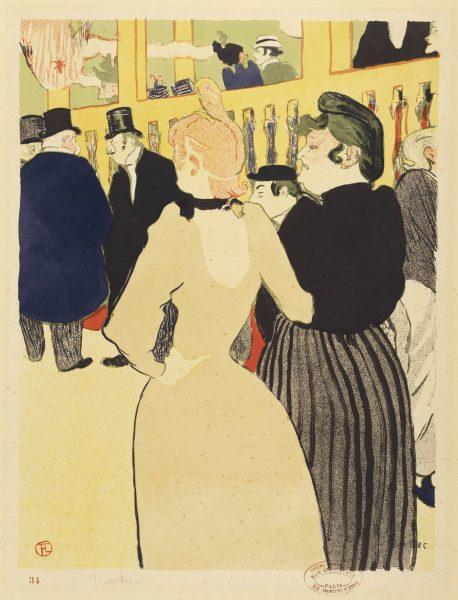 Henri de Toulouse-Lautrec: Au moulin Rouge.