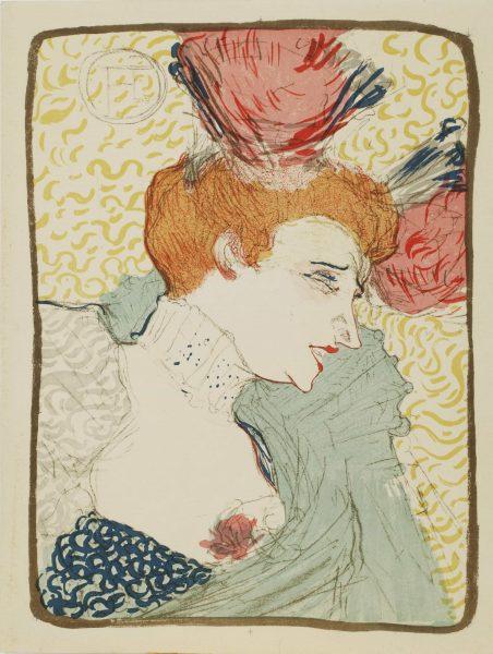 """Henri de Toulouse-Lautrec, """"Marcelle Lender,"""" 1895, color lithograph."""