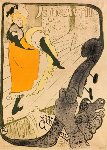 Jane Avril, Jardin de Paris henri toulouse lautrec