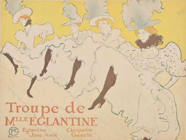 La Troupe De Mlle Eglantine henri de toulouse lautrec