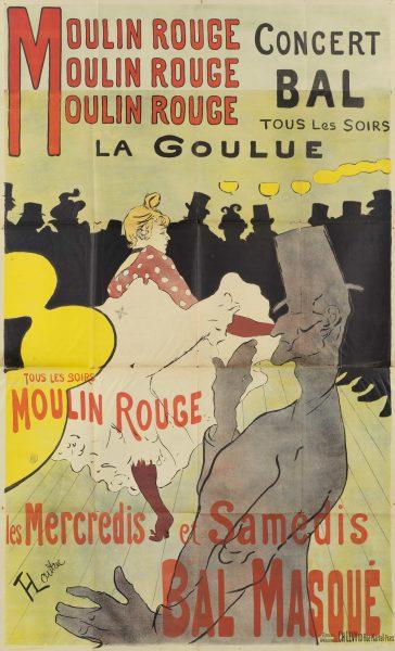 Moulin Rouge Concert Bal henri de toulouse lautrec
