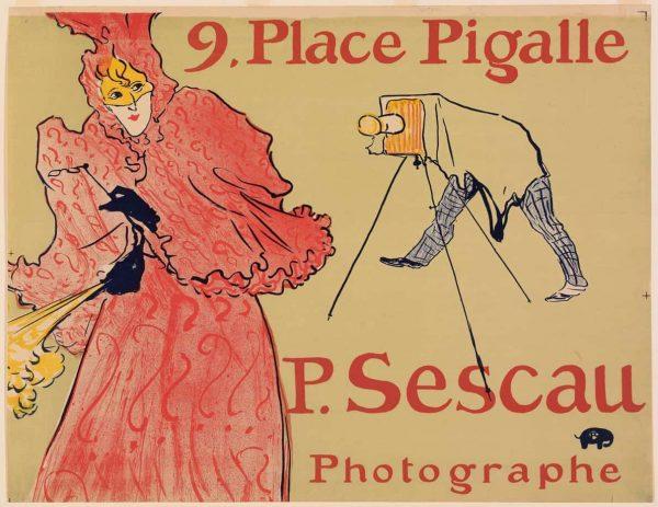 Photographer Sescau Henri de Toulouse-Lautrec