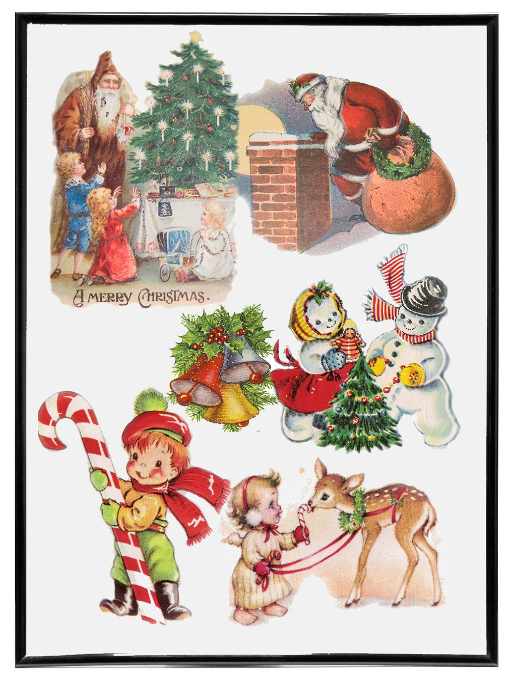 Vintage Christmas.Vintage Christmas Cards Collection Vol 3